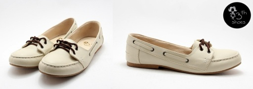 Boy Cream Leather Moc - 195