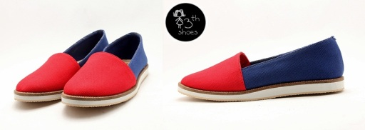 Slipper in RedBlue - 225