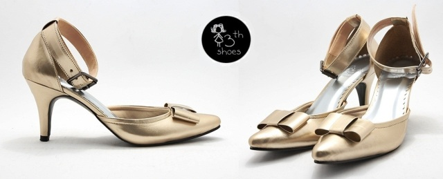 Gold Pointy Heels - Rp.265.000,- (USD 45)