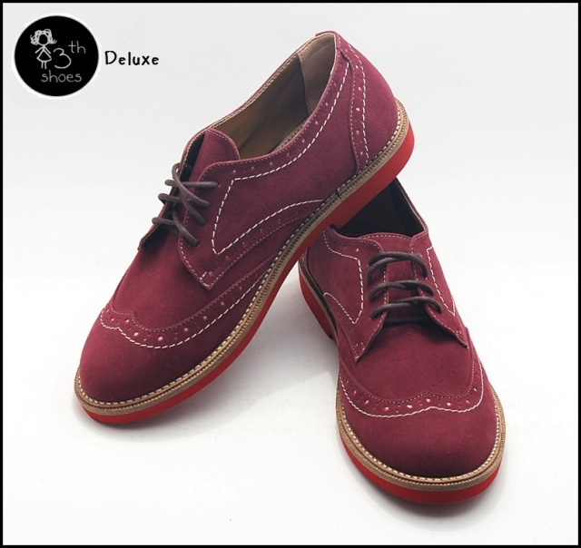 burgundy brogue