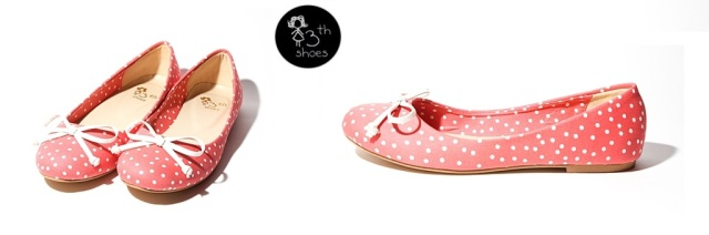 (pale red) polkadot bell - 175
