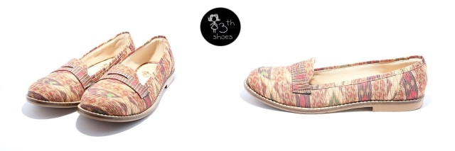 slip on brown ikat - 225