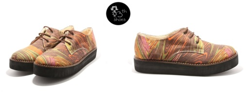 Brown Abstract Flatform - 335
